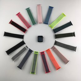 Discount apple watch 38mm classic - 38mm 42mm 40mm 44mm band for apple watch series 1 2 3 woven nylon band strap for iWatch 4 colorful pattern classic buckl
