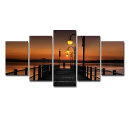 $enCountryForm.capitalKeyWord UK - 5 Panel pontoon bridge Modern Printed Painting On Canvas Painting for Living Room Wall Art Decor Picture Cuadros
