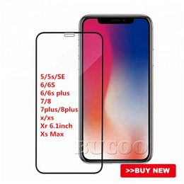 $enCountryForm.capitalKeyWord Australia - New iPhone XR XS MAX Screen Protector Tempered Glass Anti Impact Full Screen Coverage 9H Hardness for iPhone X 8 7 6 plus Without packing