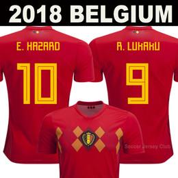 2018 World Cup Belgium Soccer Jerseys DE BRUYNE Thailand Quality R.LUKAKU  FELLAINI E.HAZARD KOMPANY BATSTUAYI MERTENS BELGIUM football shirt 51c6289d7