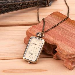 $enCountryForm.capitalKeyWord Australia - Antique Bronze Quartz Pocket Watch Dual Double Time Zone Movement relogio de bolso For Men and Women Gift New Arrivals