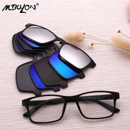 MBULON Retro Polarized Sunglasses Set Moda Clipe em Espelho Óculos De Sol  Magnético Claro Óculos Ópticos Quadro Homens 7a1a09deae