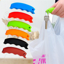 silicone bag handles 2019 - Silicone Shopping Bag Basket Carrier Grocery Holder Handle Comfortable Grip Grips Effort-Save Body Mechanics Multi Color