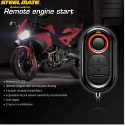Engine Start Australia - Original Steelmate 986E 1 Way Motorcycle Alarm Moto Remote Engine Start Alarm Moto Protection with Mini Transmitter for BULTACO
