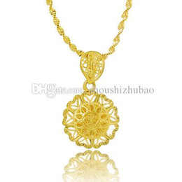 $enCountryForm.capitalKeyWord NZ - Fashion 24k Gold Colou Chic Sun Pendant Necklaces For Women Men Jewelry Accessories Beads Chain (Pendant:1.9cm)CHN033