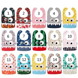15 Style Baby INS Bavaglino mostro Burp 2018 New kids Christmas Halloween Burp doppio strato in puro cotone B on Sale