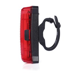 Wholesale bikers for sale - Group buy Cycling Waterproof Taillight USB Charging Bicycle Light Flashlight with Bracket suitable for mountain cyclists city bikers