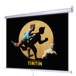 """Discount home theater screens - 100"""" 4:3 Manual Pull Down Projector Projection Screen Home Theater Movie 80""""x60"""""""