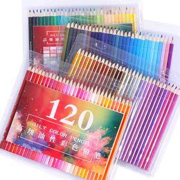 $enCountryForm.capitalKeyWord NZ - Professional Wooden 120Colored Pencils Set Lapis De Cor School Artist Painting Oil Color Pencil For Drawing Sketch Art Supplies
