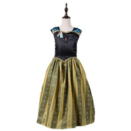 China Baby girls cosplay dress in karneval holidays children long skirts kids golden queen dress up size 100 110 120 130 140 150 160 supplier golden cosplay suppliers