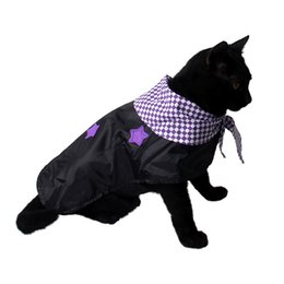 christmas clothing for female dog UK - Cat Clothes Pet Dog Costume Suit Halloween Black Stars Clothing for Cat Halloween Costume Cat Animals Clothes Free Shipping