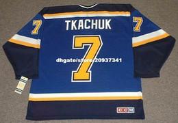 $enCountryForm.capitalKeyWord Australia - Wholesale Mens KEITH TKACHUK St. Louis Blues 2003 CCM Home Cheap Retro Hockey Jersey