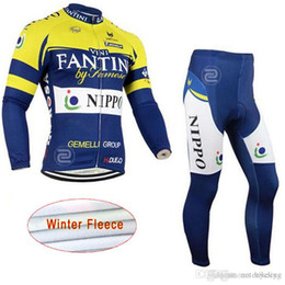 cycling winter jersey kit NZ - RAPHA FANTINI team Cycling Winter Thermal Fleece jersey (bib) pants sets Quick Dry clothing sport kits bicycle men wear C1303