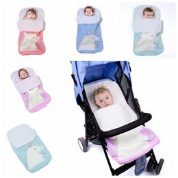 Nursery blaNket online shopping - 70x40cm Baby Unicorn Sleeping Bag Crochet Blankets Cocoon Mattress Sofa Blanket Warm Soft Knitted Strollers Nursery Sleep Bags AAA1256