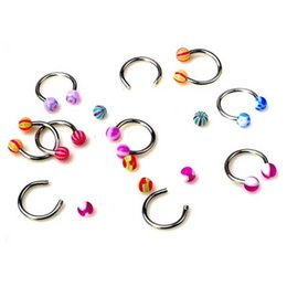$enCountryForm.capitalKeyWord UK - Random Color Acrylic Candy Color Double Ball Belly Button Ring for Women Pircing Surgical Steel Navel Piercing Body Jewelry