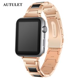 golds express 2019 - 2018 Alibaba express sale Gold Color Apple Watch Wristband Price Metal Material 38mm 42mm for man & women US ,Ukraine,et