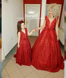 Robe de soiree rouge pour petite fille