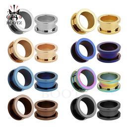 KUBOOZ пирсинг популярные 8 цветов из нержавеющей стали ушные туннели и пробки ушные манометры носилки пирсинг ювелирные изделия 6-25 мм