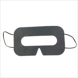 Wholesale 100pcs Black Protective Hygiene VR Eye Mask Disposable Eyemask Nonwoven mask pad for 3D VR Glasses