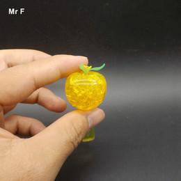 $enCountryForm.capitalKeyWord NZ - Fun DIY Funny Mini Apple 3D Crystal Puzzles Plastic Model Brain Teaser Toy Gift Blue Color