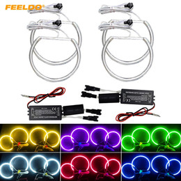 bmw e39 kits Canada - FEELDO Car CCFL Angel Eyes Light Halo Rings Kits For BMW E46 E36 E38 E39 Headlight 6-Color #4170