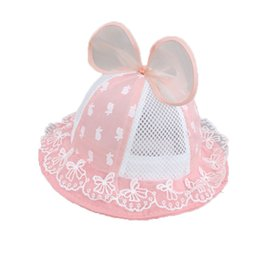 $enCountryForm.capitalKeyWord UK - Girls Baby Mesh patchwork Dome Bucket Hats Child Kids Bowkont Design Lace Casual beach Cap Summer Sun Protective Hat MZ5851