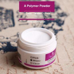 $enCountryForm.capitalKeyWord Australia - sparkle Clear Transparent Pink Three Colors Option Acrylic Crystal Powder Nail Tips Polymer Builder Nail Art polymer Powder 1PC