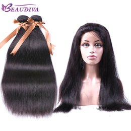 $enCountryForm.capitalKeyWord Australia - Beaudiva Brazilian Straight Hair With 360 Lace Frontal Closure Human Hair 2 bundles With Closure Natural Color Cheap Price Free Shipping