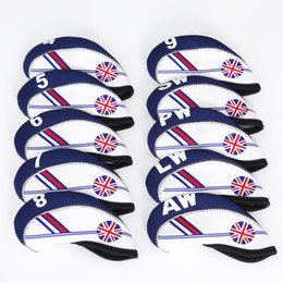 10 pz / set Golf Iron Club Head Covers British Flag Inghilterra Style Golf Rods Cover protettiva