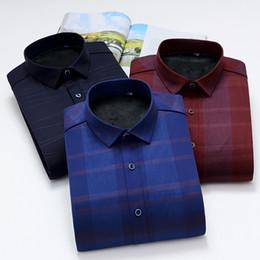 2018 Новое прибытие зима толстая теплая рубашка мужчины повседневная рубашки плед сплошной цвет гладкой elestic платье рубашка