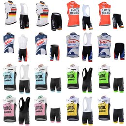 39eafee3d LOTTO team Cycling Sleeveless jersey Vest (bib) shorts sets summer Quick  Dry Bicycle outdoor Bike wear clothing E0431