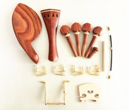 Discount violin fine tuners - 1 set new rosewood Violin parts 4 4 full size with fine tuners