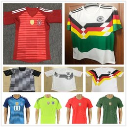 2018 World Cup Germany Goalkeeper Soccer Jersey 1 NEUER 22 TER STEGEN SANE  WERNER OZIL KROOS MULLER Custom Home Short Sleeve Football Shirts 75c52a6cc