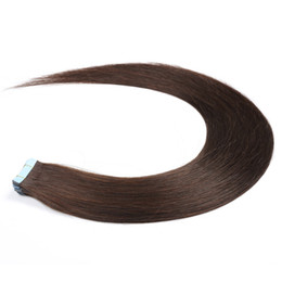 China 16, 18, 20, 22, 24Inch Tape Hair Extensions Unprocessed #2 Dark Brown Seamless Tape In Real Remy Human Hair Extensions 20 Pcs Package supplier wholesale human hair packaging suppliers
