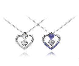 $enCountryForm.capitalKeyWord UK - 2018 New Arrival Heart Jewelry to the moon and back i love you Mom Pendant Necklace With Crystal Lovers Wholesale Fashion Jewelry