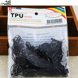 plaited hair bands NZ - 300pcs pack Rubber Rope Ponytail Holder Elastic Hair Bands Ties Braids Plaits hair clip headband Accessories