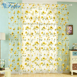 $enCountryForm.capitalKeyWord NZ - Floral Tulle Curtains Living Room Bedroom Sheer Window Curtains for Kitchen Balcony Finished Tulle Window Drapes 100*200cm