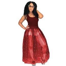 Gauze balls online shopping - 2018 summer Sequins designer dresses Fashion New Yards Gauze Perspective Lace Dress O neck Sleeveless Tank Dress Woman Sweet CL657