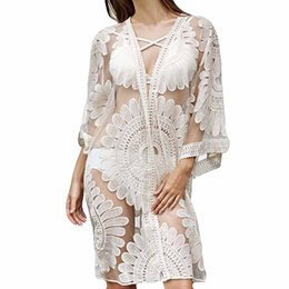 Blouses & Shirts Muqgew Hot Sale Womens Blouse Fashion Lace Solid Coat Tops Suit Bikini Swimwear Beach Swimsuit Smock Chemise Femme Manche Longue