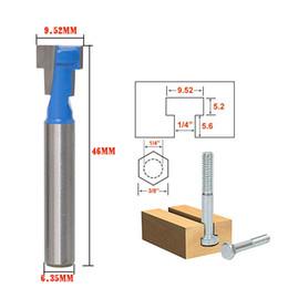 Slot Cutters NZ - DIY Working tools Blue 1 4 Shank T-Slot Cutter Router Bit for 1 4*3 8 Hex Bolt