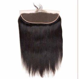 Human Hair Frontal Part Closure UK - 9A Straight Hair Lace Frontal Free Part 13*4 Virgin Human Hair Body Water Deep Wave Lace Frontal Brazilian Virgin Hair Lace Frontal Closure