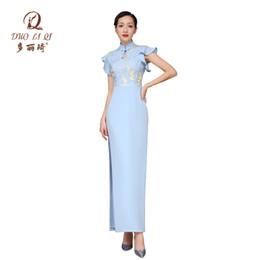 Chinese model Cheongsam online shopping - Doric March summer new Chinese retro cheongsam girls bridesmaid dress cheongsam dress dress