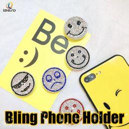 Discount mobile finger grip - Diamond Rhinestone Finger Ring Luxury 360 Degree Rotating Mobile Phone Holder for iPhone X Samsung LG Smartphone Airbag