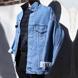 d3a3d3b4883 Men s Spring Jackets Denim Casual Warm Winter Coat Cowboy Hip Hop Punk  Style Men Jean Outfit Old Blue