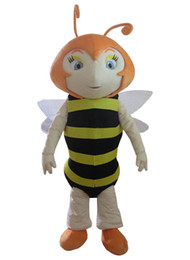 Queen Stage Costumes NZ - 2018 Hot customized yellow queen bee mascot costume stage prop fancy dress high quality free shipping