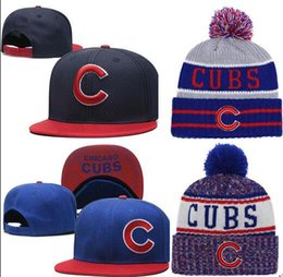 Wholesale 2019 Cubs Hat Snapback cap Champions Cubs beanie All Teams Men women Knitted Beanies Wool Hat Knit Bonnet Beanie Gorro Winter Cap