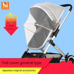 Cotton Cart NZ - Baby cart mosquito net full cover universal mesh yarn encryption anti-mosquito high landscape baby buggy accessories