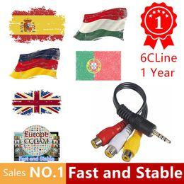 1 año Europa Cccams 6 Clines Servidor para España Portugal Alemania Polonia Italia soporte DVB-S2 Receptor Receptor de TV por satélite
