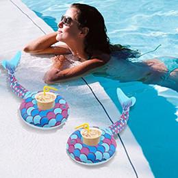 $enCountryForm.capitalKeyWord NZ - Mermaid Tail Drink Holder Inflatable Drink Cup Holder Beach Pool Party Favorites Inflatable Mermaid Pool Float Toys