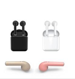 Großhandel I7 Beste Handy Bluetooth Ohrhörer Drahtlose Handy Kopfhörer mit Mic Stereo V4.2 Kopfhörer für Iphone Android mit Kleinpaket